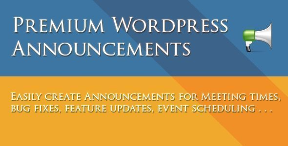 WordPress Announcements Plugin