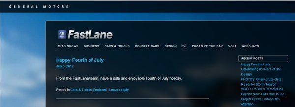 GM FastLane Blog