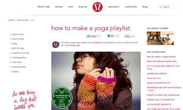 Lululemon Community Blog
