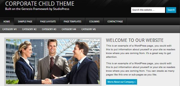 The Corporate theme