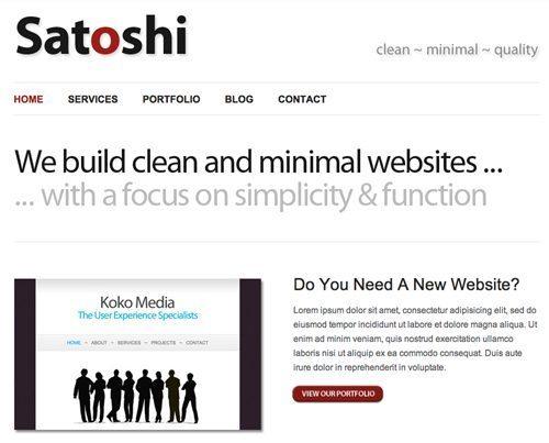 satoshi WordPress theme