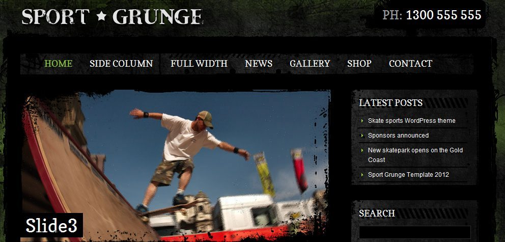 Sport and Grunge - WordPress Shop & Newsletter