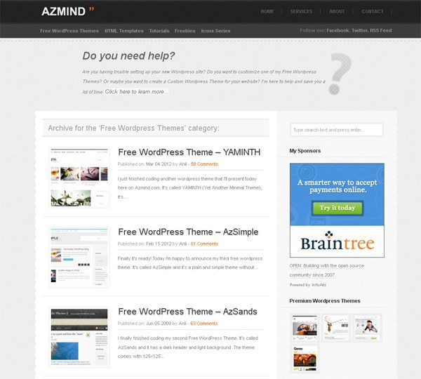 Azmind Free WordPress Themes