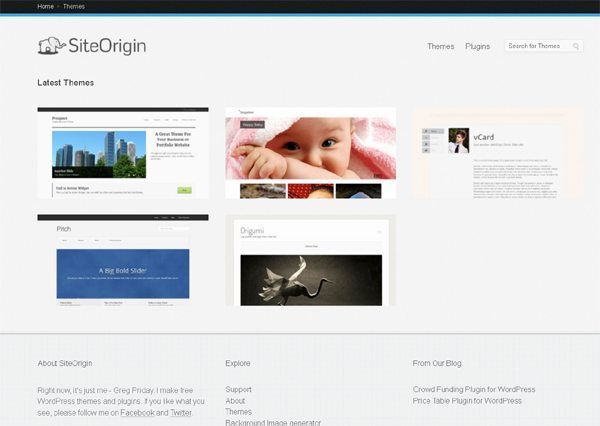 Site Origin WordPress Themes