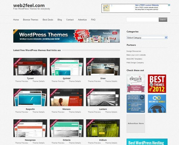 Web 2 Feel: Free WordPress Themes For everybody