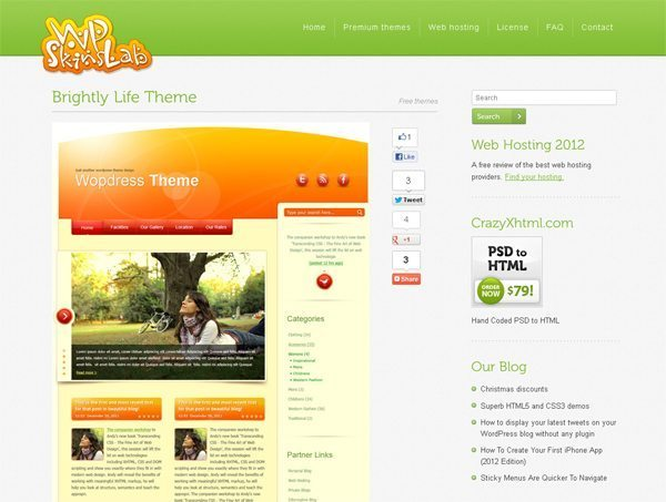 WP Skins Lab Free Themes