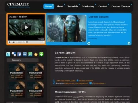 Cinematic WordPress Theme