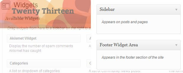 twentythirteen-WordPress-theme-Widget-Area