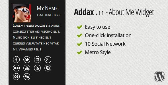 Addax-About-Me-Widget