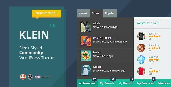 Klein - A Nitty-Gritty Community Theme