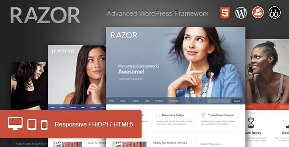Razor Cutting Edge WordPress Theme