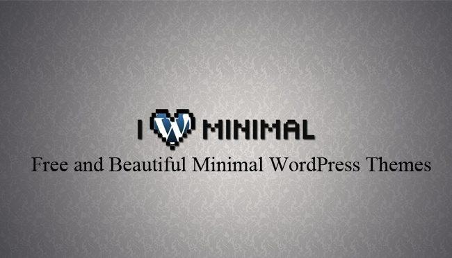 Free and Beautiful Minimal WordPress Themes