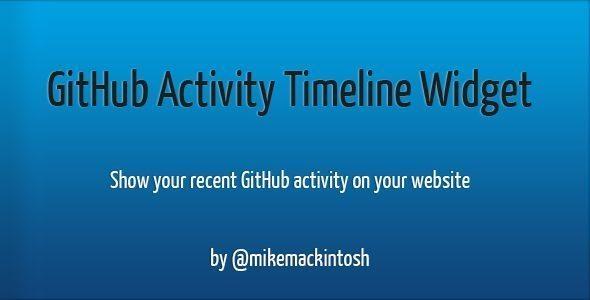 GitHub Activity Timeline Widget