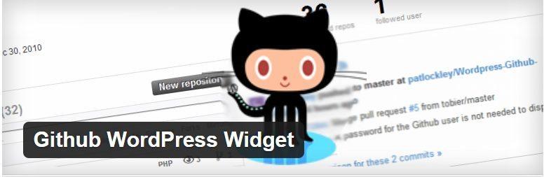 GitHub-WordPress-Widget