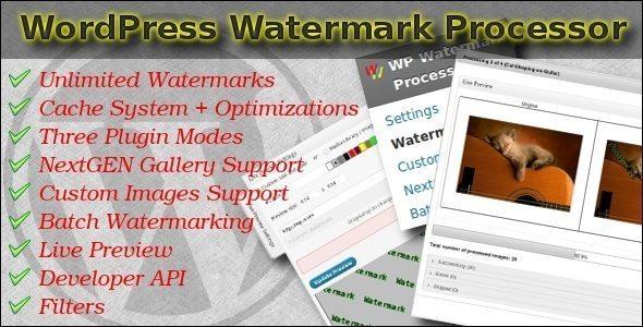 Fast Watermark Plugin for WordPress