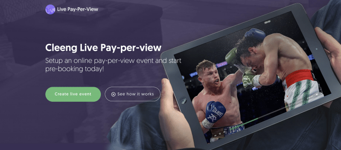 Live streaming Pay Per View Solution
