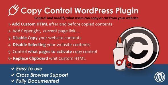 WordPress Copy Control Plugin