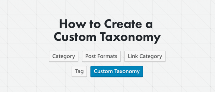 how to create a custom taxonomy