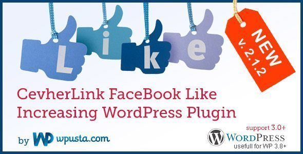 CevherLink FaceBook Like Increasing WP Plugin