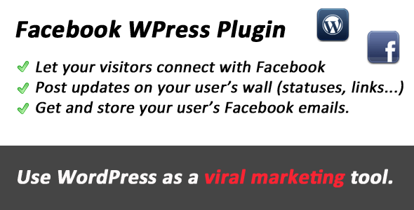 Facebook Connect and Viral tool for WordPress