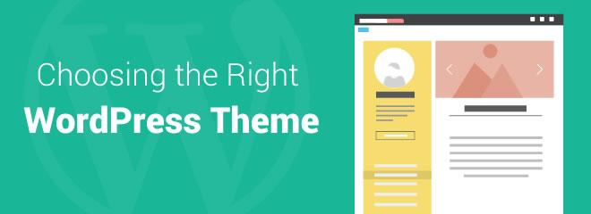 wordpress theme choose