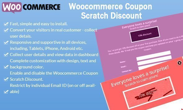 WooCommerce Coupon Scratch Discount