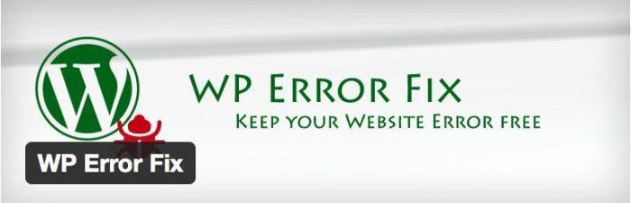 WP Error Fix