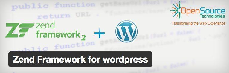 Zend Framework for wordpress