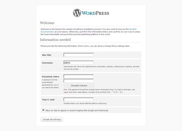How To Build A Website With WordPress - Installing WordPress