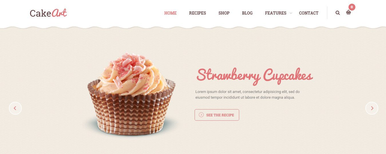 Bakery & Cake WordPress Theme - Cake Art