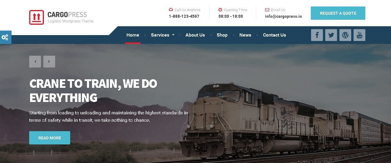 CargoPress - Theme for Ground Transport, Trucking Service