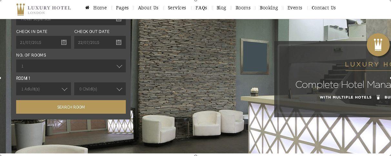 Luxury - Online Reservation WordPress Theme