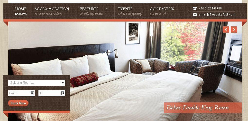 Nice Hotel - Hotel Booking WordPress Theme
