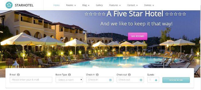 Starhotel - Responsive WordPress Hotel Template
