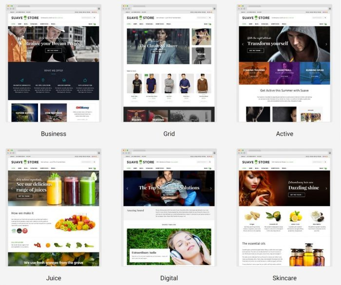 Responsive WooCommerce Themes - Suave