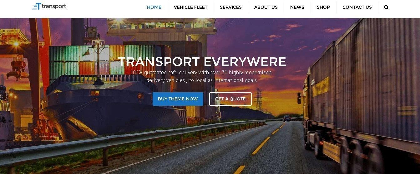 WordPress Transport & Logistics Theme