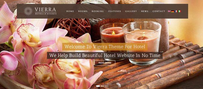 Vierra - Responsive WordPress Hotel Booking Theme