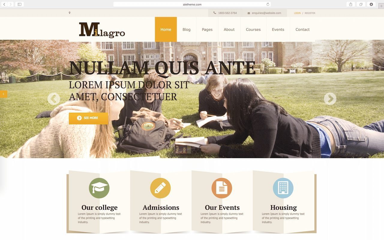 Milagro - Learning Management System LMS WordPress Themes