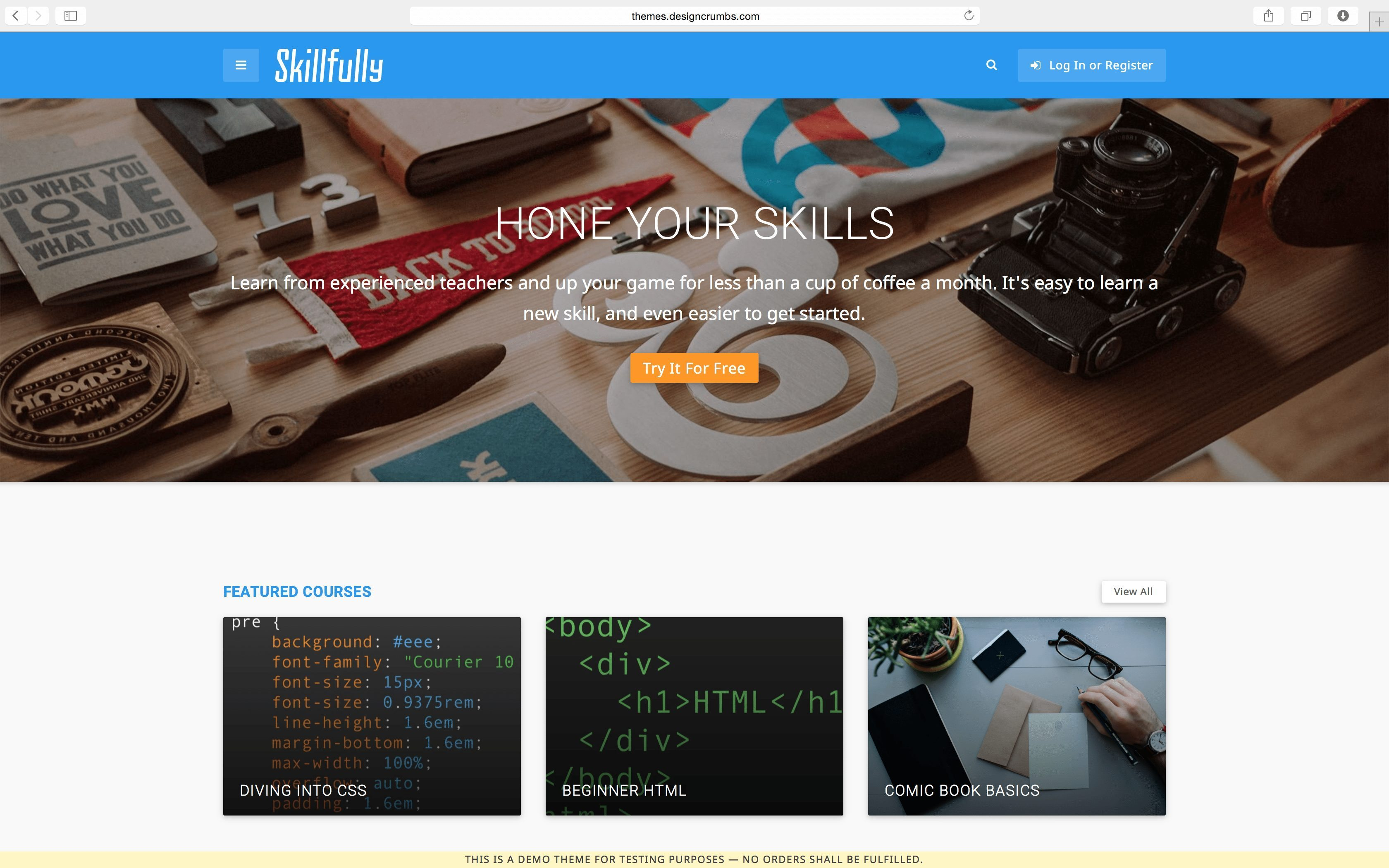 Learning Management System LMS WordPress Themes -skillfully