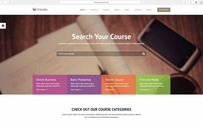 Varsita - Learning Management System LMS WordPress Themes