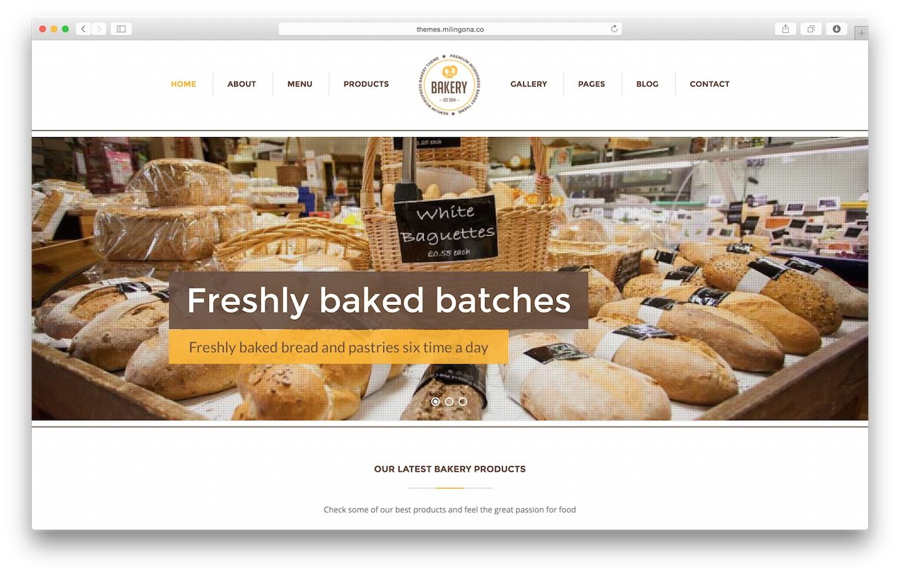 Bakery - Fantastic WordPress Theme for Restaurant