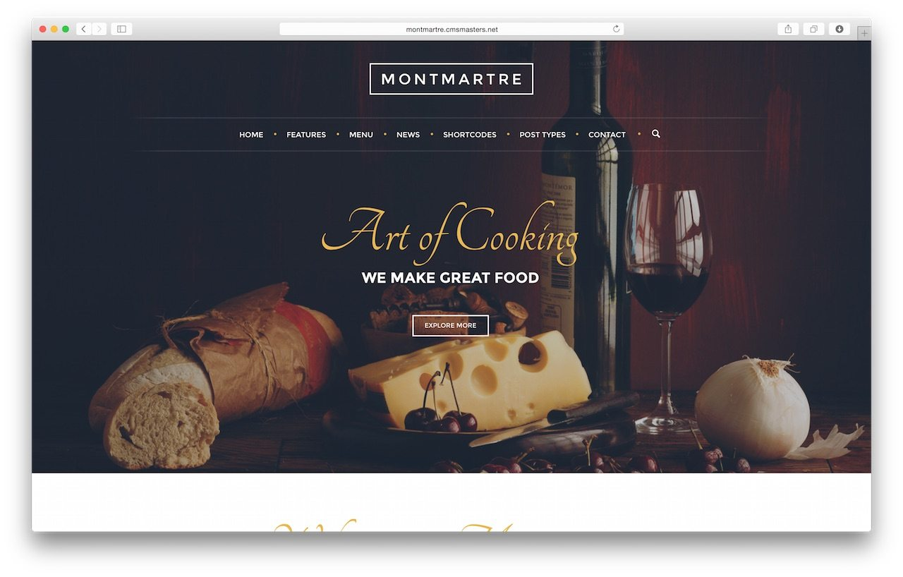 Amazing Restaurant WP Theme - MontMartre