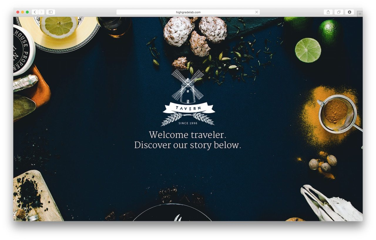 Responsive WordPress Theme Restaurant - Tavern