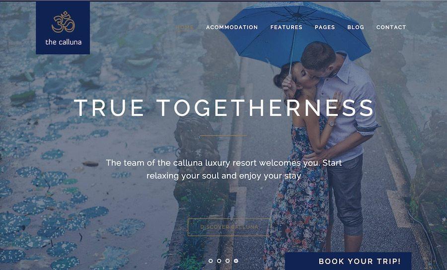 Hotel Calluna WordPress Theme