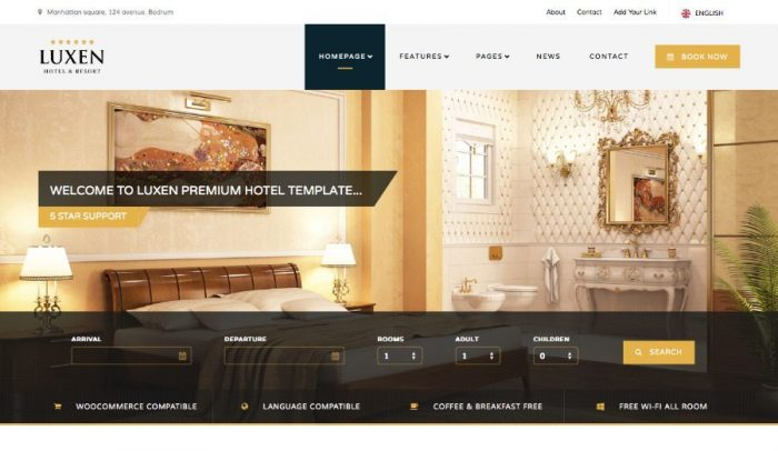 15 Wordpress Hotel Themes For Hotel Booking Reservation