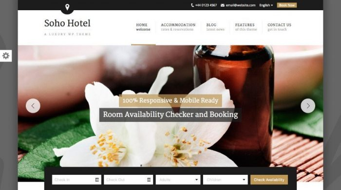 Soho Hotel WordPress Hotel