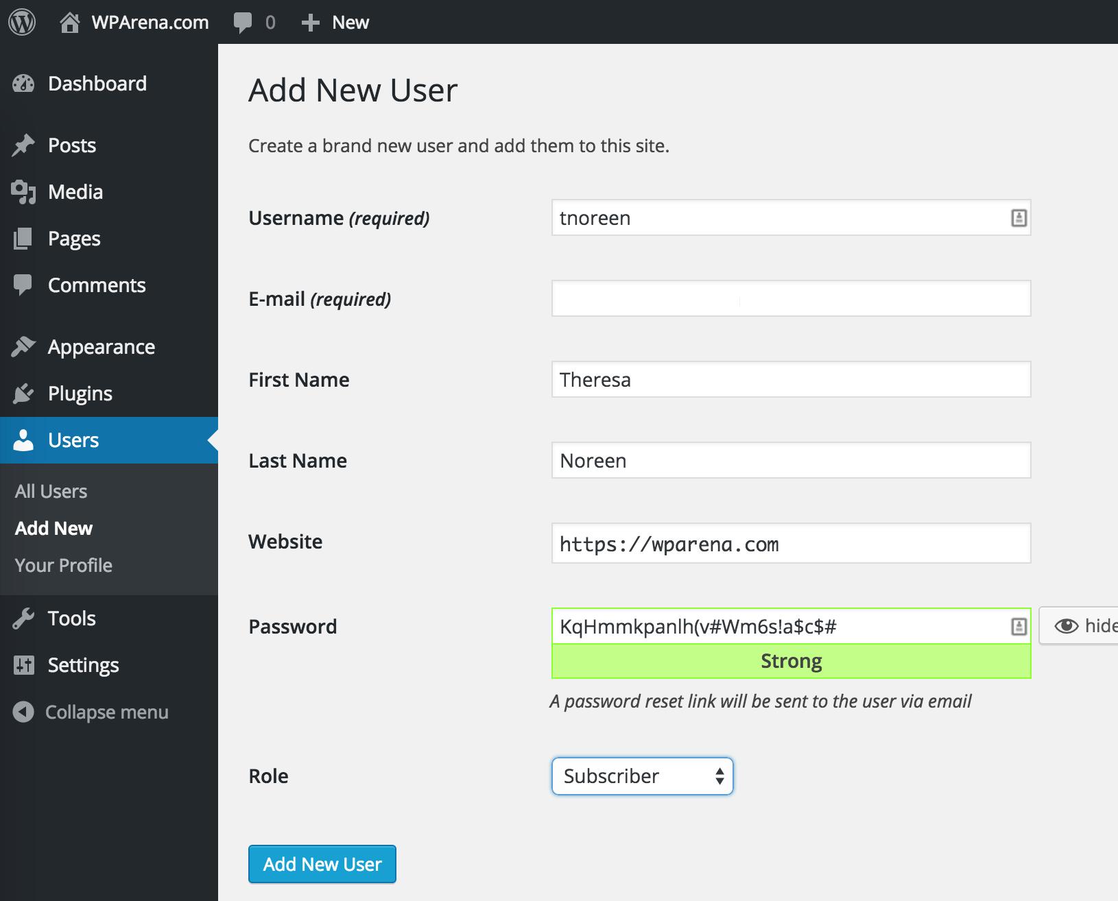 WordPress 4.3 - Better Passwords