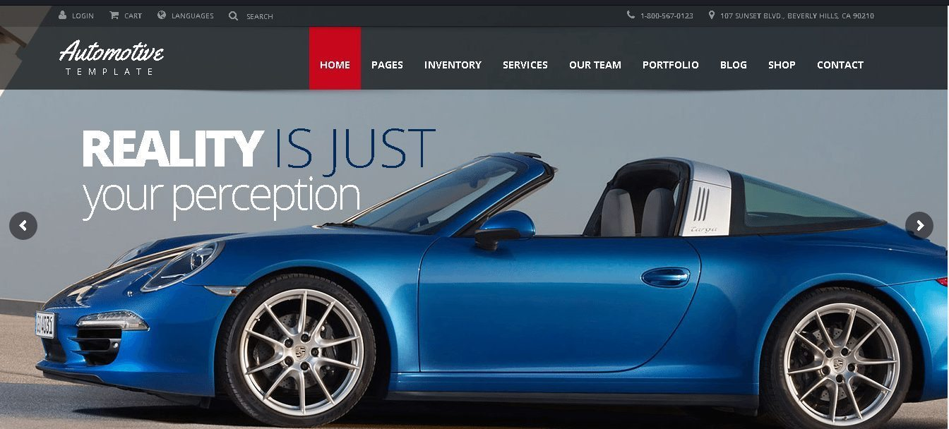 Automotive Car Dealer WordPress Theme