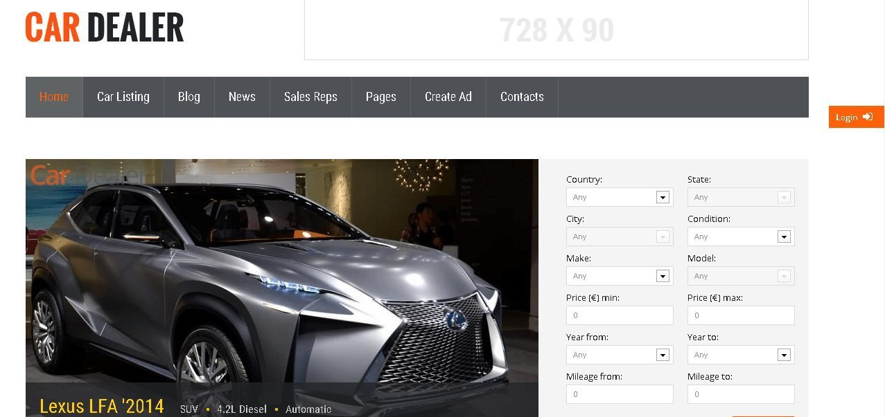 Car Dealer - Responsive WordPress Automotive Theme