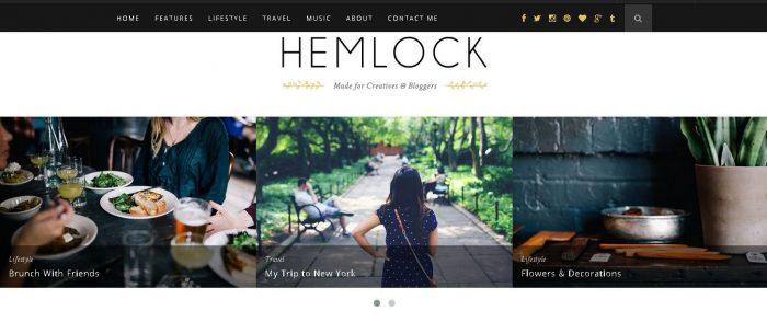 Hemlock - One of Best Seller WordPress Blog Themes